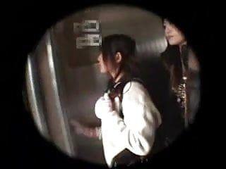 Teengirl 1st lesbo sex in elevator 1