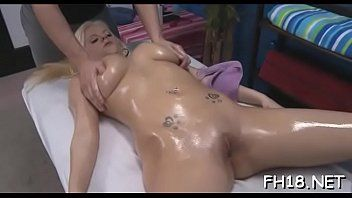 Hot 18 year old gril acquires stuffed hard from behind by her massage therapist