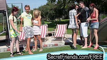 Pool party fuckfest two chaps 5 hotties secret allies
