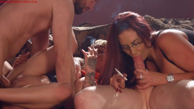 Chantelle and emma smokin sex foursome