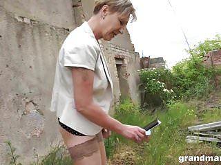 Hawt blond granny sanny copulates her slaveboy grandmams.com