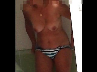 Hidden webcam hot bare wife after shower