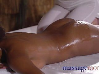 Massage rooms soaked slippery and oiled interracial lesbos fu